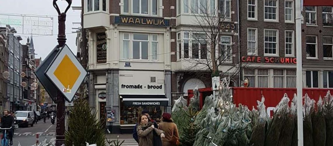 Vanha rakennus Amsterdamissa